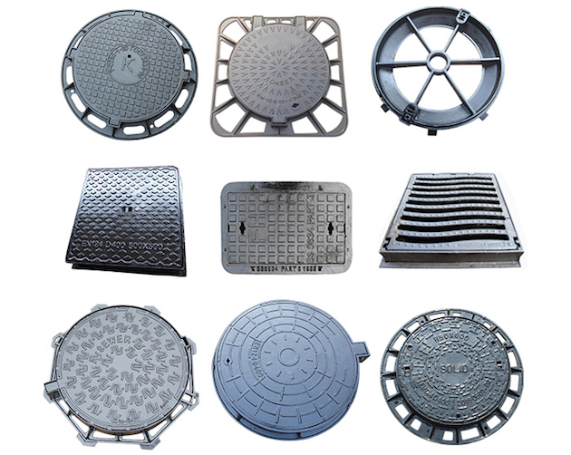B125 Manhole Cover with ductile iron