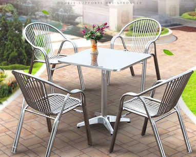 Stainless Steel Outdoor Table